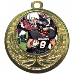 Gold American Football Medal 40mm