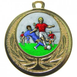 Gold Male Football Medal 40mm