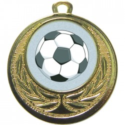 Gold Football Medal 40mm