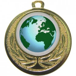 Gold Globe Medal 40mm
