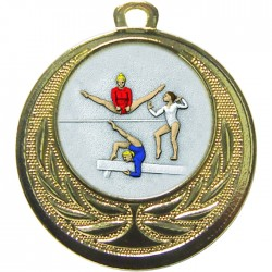 Gold Female Gymnastics Medal 40mm