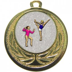 Gold Gymnastics Floor Medal 40mm