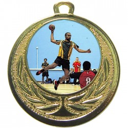 Gold Handball Medal 40mm