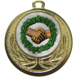 Gold Handshake Medal 40mm