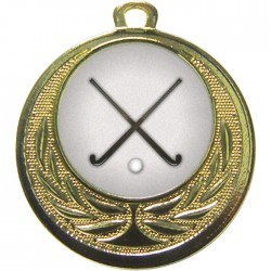 Gold Hockey Medal 40mm