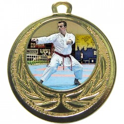 Gold Karate Medal 40mm