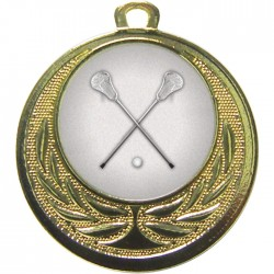 Gold Lacrosse Medal 40mm