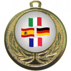 Gold Languages Medal 40mm