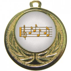 Gold Music Medal 40mm