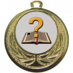 Gold Quiz Medal 40mm