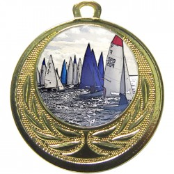 Gold Sailing Medal 40mm