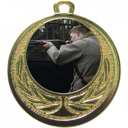 Gold Clay Pigeon Shooting Medal 40mm