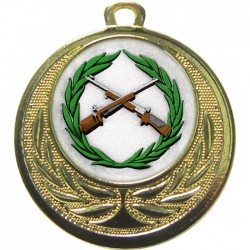 Gold Small Bore Rifle Shooting Medal 40mm