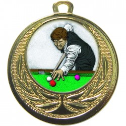 Gold Snooker Medal 40mm