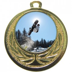 Gold Snowboarding Medal 40mm