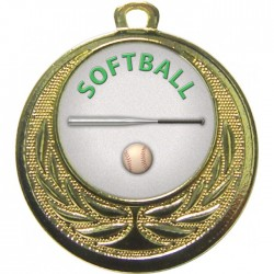 Gold Softball Medal 40mm
