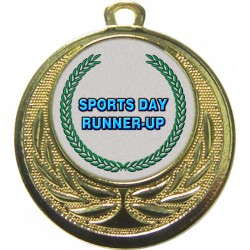 Gold Sports Day Runner Up Medal 40mm