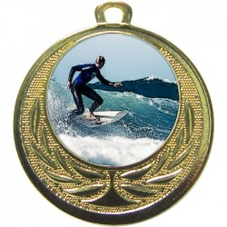 Gold Surfing Medal 40mm