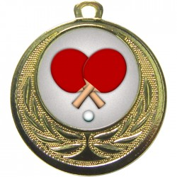 Gold Table Tennis Medal 40mm