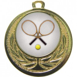 Gold Tennis Medal 40mm