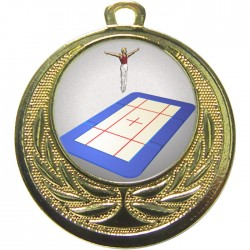 Gold Trampolining Medal 40mm
