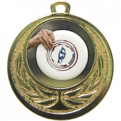 Gold Frisbee Medal 40mm