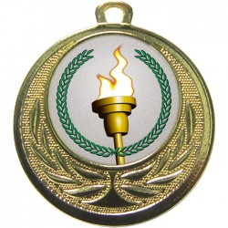 Gold Victory Torch Medal 40mm