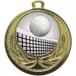 Gold Volleyball Medal 40mm