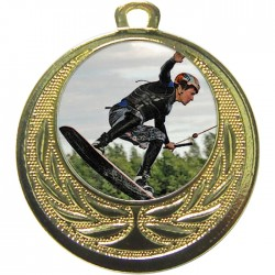 Gold Wake Boarding Medal 40mm