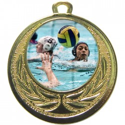 Gold Water Polo Medal 40mm