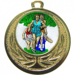 Gold Cross Country Medal 40mm
