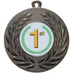 Silver 1st Place Medal 50mm