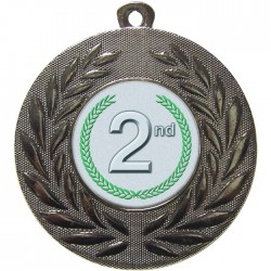 Silver 2nd Place Medal 50mm