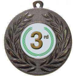 Silver 3rd Place Medal 50mm
