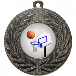 Silver Basketball Medal 50mm