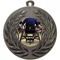 Silver Wheelchair Basketball Medal 50mm
