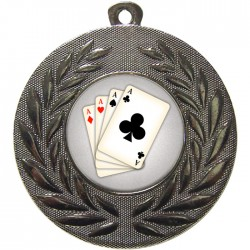 Silver Cards Medal 50mm