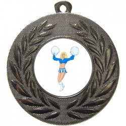 Silver Cheerleader Medal 50mm