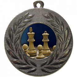 Silver Chess Medal 50mm