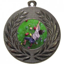 Silver Climbing Medal 50mm