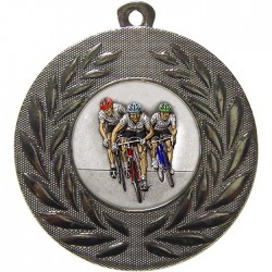 Silver Cycling Medal 50mm