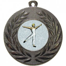 Silver Male Dance Medal 50mm