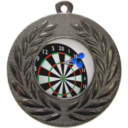 Silver Darts Medal 50mm