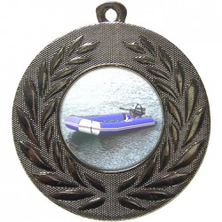 Silver Rubber Dinghy Medal 50mm