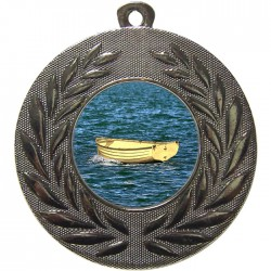 Silver Wooden Dinghy Medal 50mm