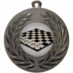 Silver Draughts Medal 50mm