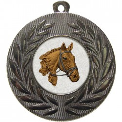 Silver Equestrian Medal 50mm
