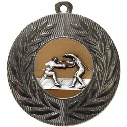 Silver Fencing Medal 50mm