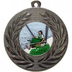 Silver Fishing Medal 50mm