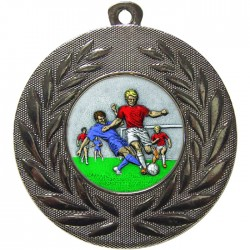 Silver Male Football Medal 50mm